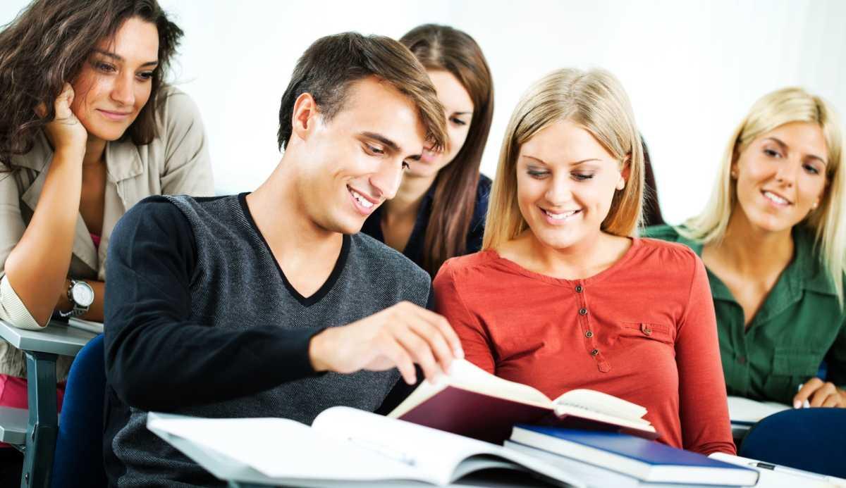 Schüler vom Campus