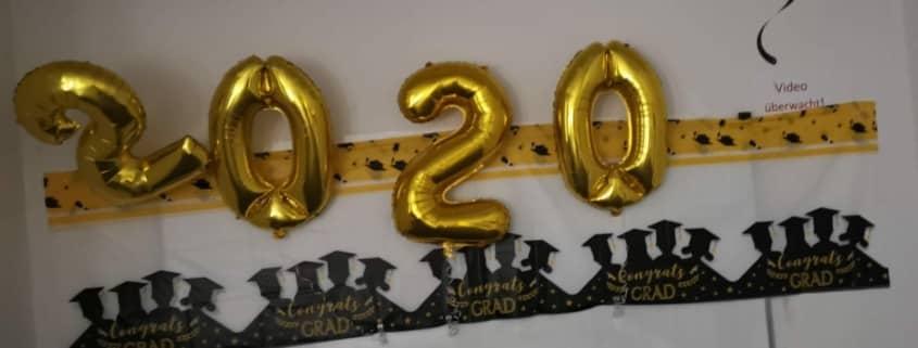 Luftballons 2020 Gold Absolventen